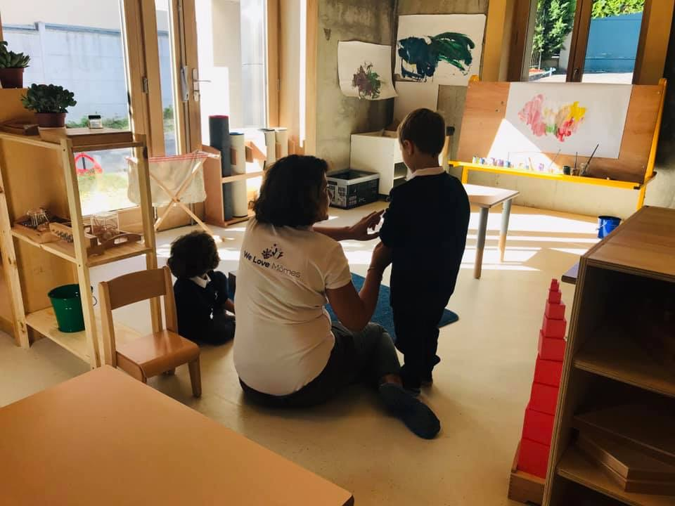 International Montessori school Carrieres (78) West of Paris team group