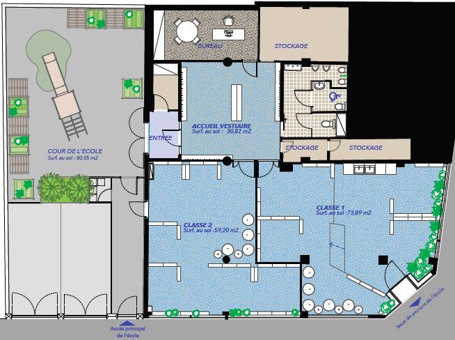 International Montessori School Versailles Floormap